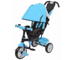 Passeggino Triciclo Per Bambini Kids Joy Sprint Azzurro