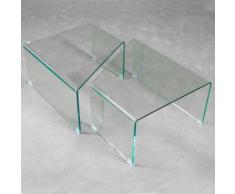 Tavolino In Vetro Modulabile Itamoby Mercury Trasparente