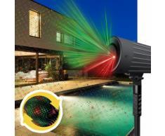Proiettore Laser 2 Colori Luci Natalizie Con Movimento Da Esterno E Interno Motion Laser Light