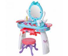 Postazione Trucco Specchiera Giocattolo Per Bambini Con Sgabello Benzoni Azzurra