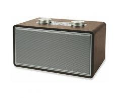 Altoparlante Speaker 80w Wireless Con Radio Effetto Legno Kooper Rock Marrone
