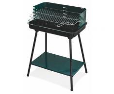 Barbecue A Carbone Carbonella Rettangolare 58x38 Cm Soriani Sun-day Verde