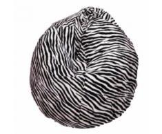 Poltrona A Sacco Pouf In Poliestere Pelo Design Zebra Avalli