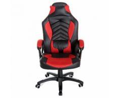 Sedia Da Gaming Massaggiante E Riscaldante Rosso E Nero 68x69x108-117 Cm Benzoni