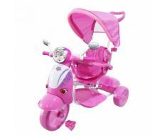 Moto Triciclo A Spinta Seggiolino Reversibile Per Bambini Kid Go Rosa