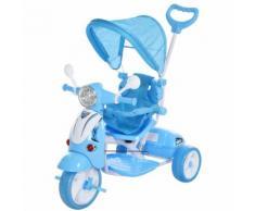 Triciclo Passeggino Con Seggiolino Reversibile Per Bambini Benzoni Blu
