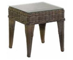 Tavolino Da Giardino Quadrato In Polyrattan Adami Baltimora Grigio