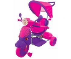 Triciclo A Spinta Seggiolino Reversibile Per Bambini Kidfun Classic Fucsia E Viola