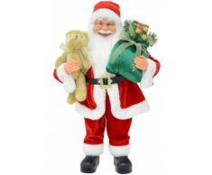 Pupazzo Babbo Natale H60 Cm Vanzetti Rosso