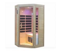 Sauna Finlandese Ad Infrarossi 2 Posti 107x93 Cm In Hemlock Canadese H188 Vorich Princess Eco