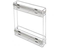 Portabottiglie Estraibile Per Mobile Da Cucina 11,5 Cm In Acciao Cromato Emuca