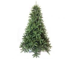 Albero Di Natale Artificiale Cortina Verde Ignifugo 1800 Rami Altezza 240cm