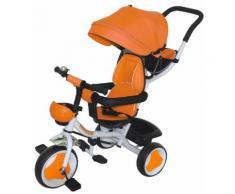 Passeggino Triciclo Con Sedile Girevole 360° Kidfun Tricygò Arancione
