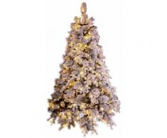 Albero Di Natale Artificiale Innevato 210 Cm 2155 Rami 600 Led Bianco Caldo Elbert