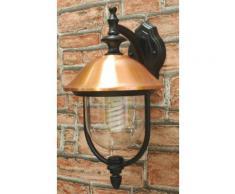 Lampada Lanterna Da Parete 60w Bauer Copper Nero E Rame