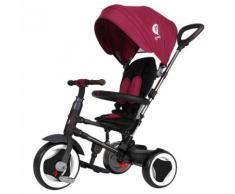 Triciclo Per Bambini Passeggino Pieghevole Qplay Rito 3 In 1 Happy Kids Viola