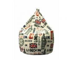 Poltrona A Sacco Pouf In Cotone Design Londra City Avalli