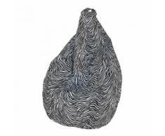 Poltrona Pouff In Poliestere 80x120cm Zebrata Avalli
