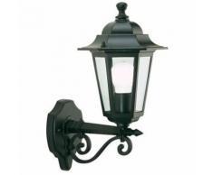 Lampada Applique Media In Alto Colore Nero Per Esterno Linea Esagonale Sovil
