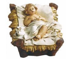 Gesù Bambino Nella Culla H11 Cm In Resina Per Presepe Natalizio Vanossi