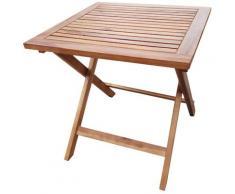 Tavolo Quadrato Pieghevole Da Giardino 50x50 Cm In Legno