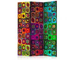Paravento 3 Pannelli - Colorful Abstract Art 135x172cm Erroi