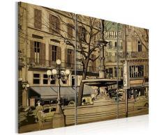 Quadro - Fontana Parigina Color Seppia 120x80cm Erroi