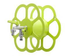 Portatubo Da Muro In Metallo Con Rubinetto A Doppia Uscita Belfer 42/fr Verde Acido