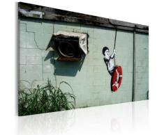 Quadro - Bambino In Altalena Banksy 60x40cm Erroi