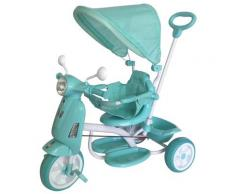 Triciclo Passeggino Con Seggiolino Reversibile Per Bambini Kid Go Verde