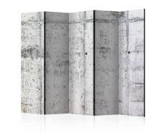 Paravento 5 Pannelli - Concrete Wall Ii 225x172cm Erroi