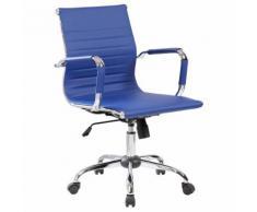 Sedia Poltrona Direzionale Da Ufficio In Eco Pelle Tosini Dallas Blu