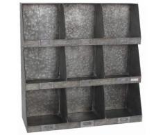 Scaffale A Muro Portatutto In Metallo 9 Posti Adami