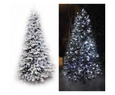 Albero Di Natale Luminoso 4990 Rami 650 Led Bianco Freddo Ø147xh240cm Manieri Abetone