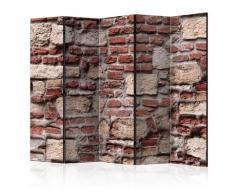 Paravento 5 Pannelli - Vintage Wall Ii 225x172cm Erroi