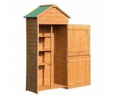 Casetta Box Da Giardino In Legno Naturale 89x50 Cm Miozzi