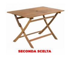 Tavolo Rettangolare Pieghevole Da Giardino 120x70 Cm In Legno Di Acacia Morel Seconda Scelta