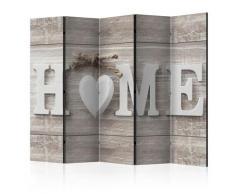 Paravento 5 Pannelli - Home And Heart 225x172cm Erroi