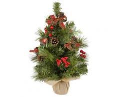Mini Albero Di Natale Artificiale Addobbato 56 Cm Con Led Vanzetti Verde