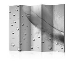 Paravento 5 Pannelli - White Feather Ii 225x172cm Erroi