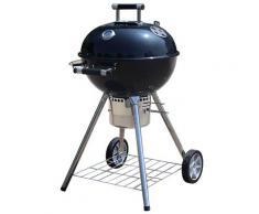 Barbecue A Carbone Carbonella 57x68x110 Cm In Acciaio 2 Ruote Boer Grill