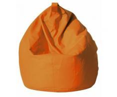 Poltrona A Sacco Pouf In Eco Pelle Arancio Avalli
