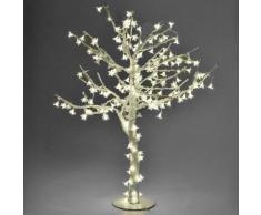 Albero Di Natale Luminoso Con 384 Led Bianco Caldo H150cm Adami Ciliegio