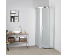 Box doccia TOKYO doppia porta scorrevole semicircolare 90x90 cm altezza 200 cm cristallo 6 mm