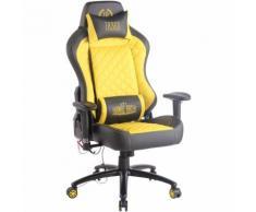 Sedia Gaming Rapid XM Massaggiante In Similpelle Nero/giallo
