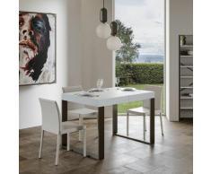 Itamoby S.r.l. - Tavolo Tecno allungabile piano Bianco Frassino 90x130 allungato 234 telaio