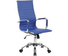 Sedia Poltrona Presidenziale Da Ufficio In Eco Pelle Tosini Dallas Blu