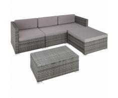 Salottino in rattan Firenze - arredo giardino, mobili da giardino, divani da esterno - grigio