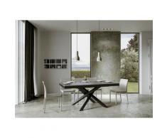 Itamoby S.r.l. - Tavolo Volantis Evolution piano Cemento 90x180 allungato 284 telaio Antracite