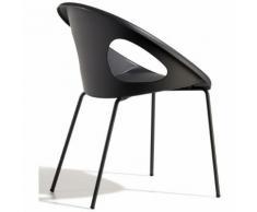 Scab Design - Poltroncina drop 4 gambe struttura verniciata e seduta in tecnopolimero adatta anche